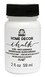 FolkArt Home Decor Chalk Furniture & Craft Paint in Assorted Colors (2 oz), 36300 White Adirondack