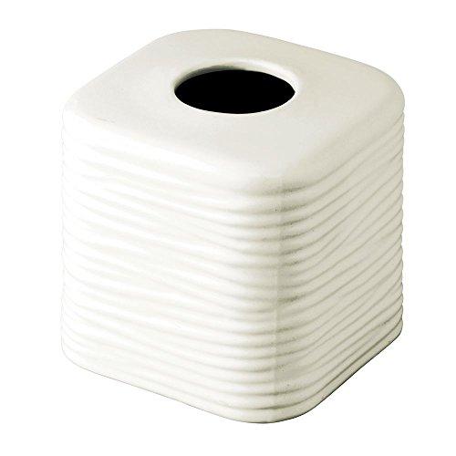 - InterDesign Arlo Facial Tissue Box Cover/Holder for Bathroom Vanity Countertops - Natural