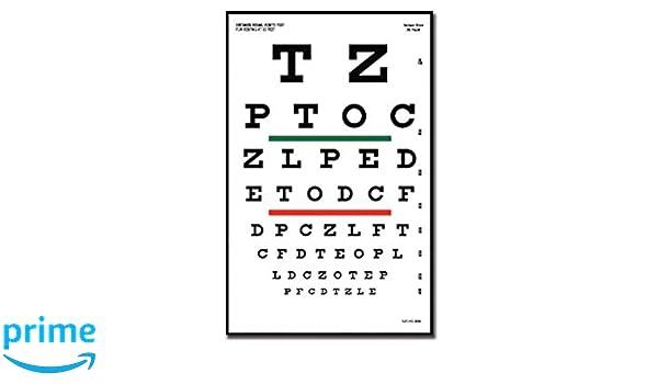 48391fbea7 Gima 31303 Snellen - Mesa optometrica (23 x 35,5 cm, 6,1 m): Amazon.es:  Industria, empresas y ciencia