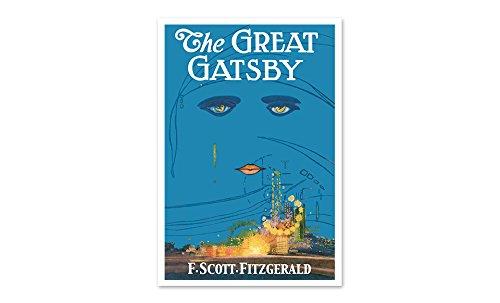 The Great Gatsby - Classic Book Art Set 2-24x16 Matte Poster Print Wall Art