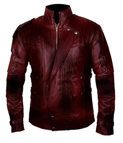 Flesh & Hide F&H Boy's Waxed Genuine Leather Guardians Of The Galaxy Vol 2 Jacket