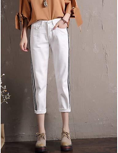 YFLTZ Unie Femme Light Jeans Blue pour Basic Pantalon Couleur YIqxOwrYg