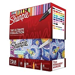 (Sharpie 72-Piece Ultimate Pack, Fine/Ultra Fine Point, Assorted Colors)