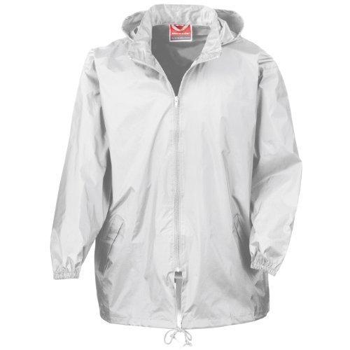 Result Mens Lightweight Waterproof Windproof Rain Jacket (S/M) (White)