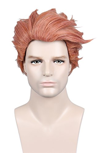 Linfairy Short Layered Wig Halloween Cosplay Wig For Women -