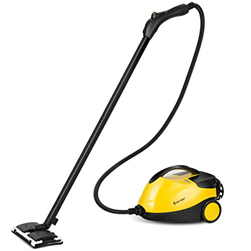 COSTWAY Steam Cleaner, All-Natural, Chemical-Free Handheld Adjustable, Multi-Purpose Household Heavy Duty Professional Steam Cleaner-Included 14 Accessories Ideal for Floors, Windows, 2000W by COSTWAY
