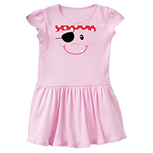 inktastic - Funny Pirate Face Costume Idea Toddler Dress 4T Ballerina Pink 15c7f