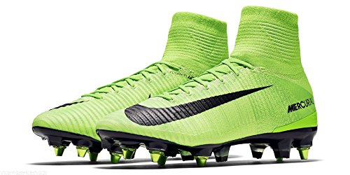 Nike Men's Mercurial Superfly Anti-Clog (SG-Pro) Soft-Ground Soccer Cleats Electric Green (8)