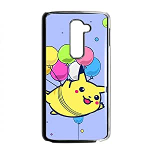 Lovely Pokemon happy Pikachu Cell Phone Case for LG G2