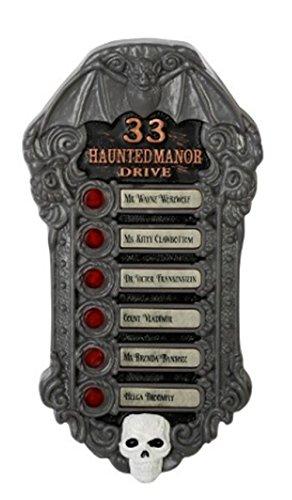 Halloween Haunted Doorbell with 6 Voice Choices- Frankenstein, Witch, Vampire and (Halloween Doorbell)