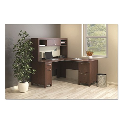 BSH2930MCA203 - Bush Enterprise Collection Low Hutch, Articulating Keyboard Shelf and Multipurpose Drawer - Bush Enterprise Collection L-Desk - Each - Collection Hutch