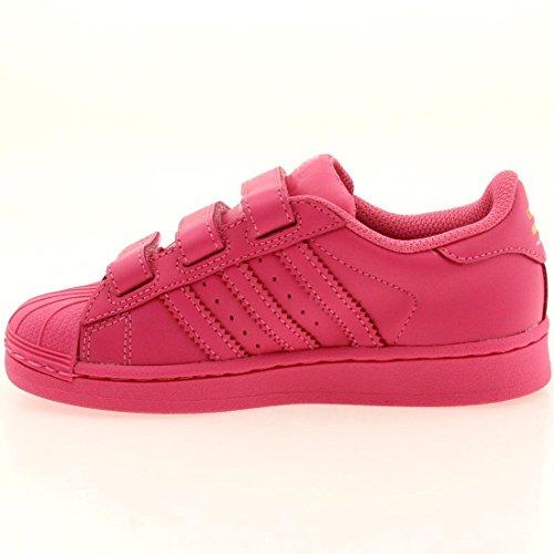 Adidas x Pharrell (Rosa Little Hombre Superstar Supercolor (Rosa Pharrell / sesopk 2781e7