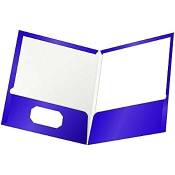 Amazon Com Oxford Laminated Twin Pocket Folders Letter