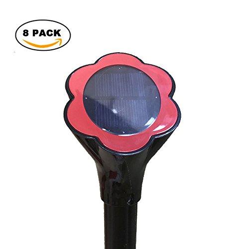 Solar Powered Pest Repellent Mole Repeller Repel Voles Lawn Garden Yards 8 Pack Color Black
