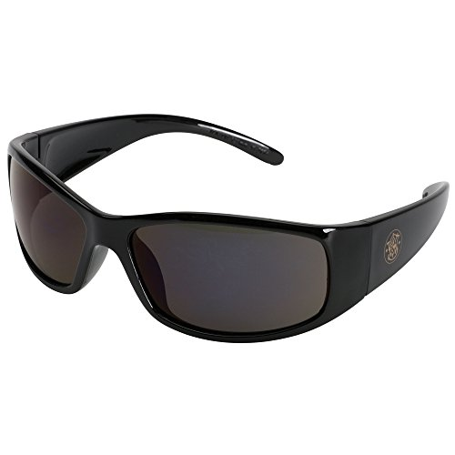 Smith and Wesson Safety Glasses (21303), Elite Safety Sunglasses, Smoke Anti-Fog Lenses with Black Frame, 12 Pairs / - Loss Cause Can Vision Sunglasses