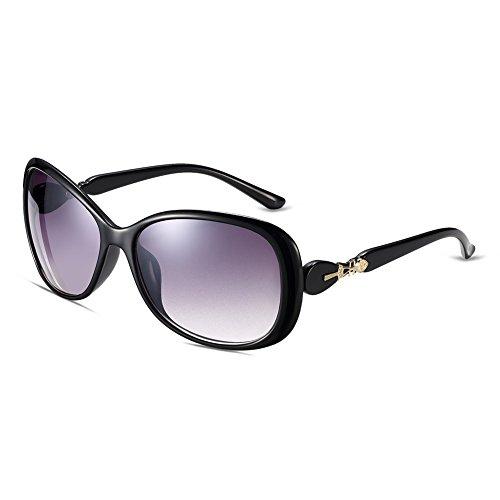 Naivo Women's YJMH048-3 Polarized Butterfly Sleek Abbey Road Sunglasses, Midnight - Black Sunglases