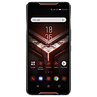 "ASUS ROG Gaming Phone ZS600KL (Snapdragon 845, 8GBRAM, 128GB Storage, Dual-SIM, Android, 6"" inch) (GSM Only, No CDMA) Factory Unlocked 4G Smartphone (Black) - International Version"