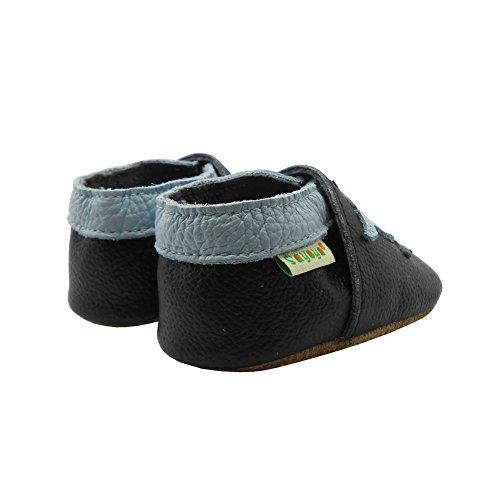 Sayoyo Suaves Zapatos De Cuero Del Bebé Zapatillas lindo Delfín Negro