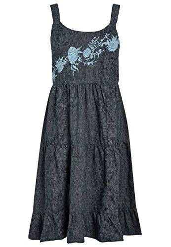 Petite Besticktes Marineblau Sommerkleid Damen next Leinenmischgewebe IRq116