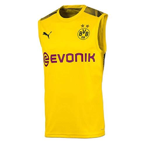 PUMA 2019-2020 Borussia Dortmund Sleeveless Football Soccer T-Shirt Jersey (Yellow)