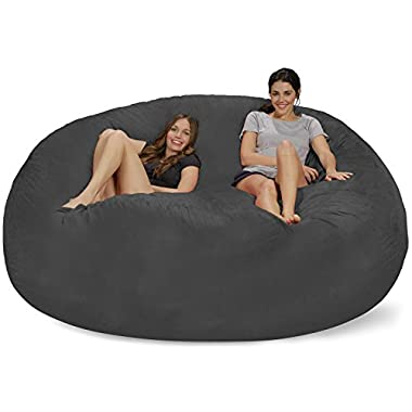 Chill Bag - Bean Bags 8-Feet Bean Bag, Huge, Charcoal