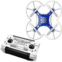 FQ777-124 Micro Pocket Drone 4CH 6Axis Gyro Switchable Controller RC Quadcopter (Blue)