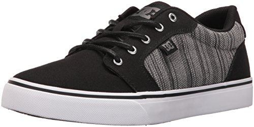 DC Men's Anvil TX SE Skateboarding Shoe, Black/Grey, 6.5 M US