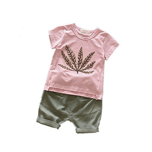 ftsucq-little-boys-girls-leaf-pattern-shirt-top-with-shorts-two-pieces-setspink-95