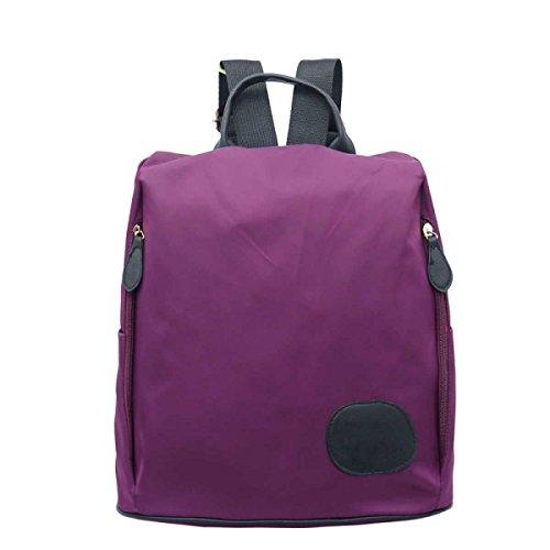 Hombres Y Mujeres Moda Simple Bolso De Hombro Ocio Lienzo Paquete De Viaje Purple
