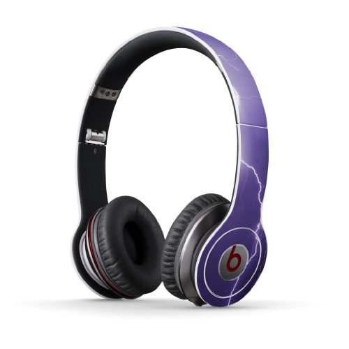 Purple Lightning Decal Style Skin for Beats By Dre Solo HD Headphones