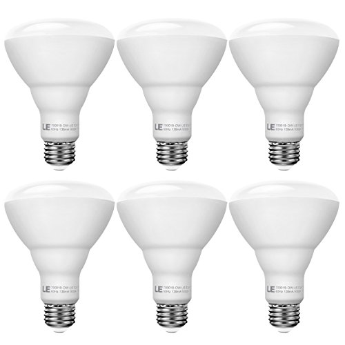 Recessed light bulb amazon le 6 pack 15w dimmable br30 e26 led bulbs 100w incandescent equivalent led recessed can lights 1210lm daylight white 5000k 110 beam e26 base aloadofball