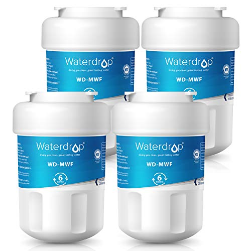 Price comparison product image Waterdrop Refrigerator Water Filter,  Compatible with GE MWF,  MWFP,  MWFA,  GWF,  GWFA,  SmartWater,  Kenmore 9991,  46-9991,  469991,  Standard,  Pack of 4