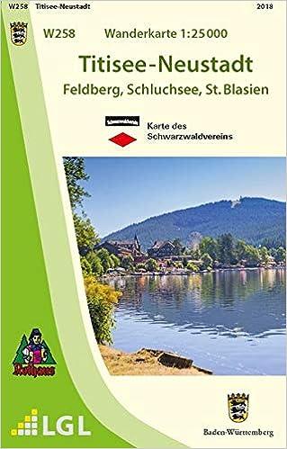 Titisee Neustadt Feldberg Schluchsee St Blasien Karte Des