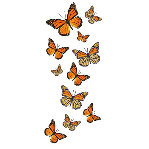 Discount 55 Monarch Butterfly Temporary Tattoos for cheap