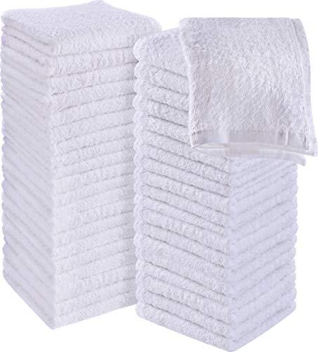 Utopia Towels Cotton Washcloths, 60 - Pack, White