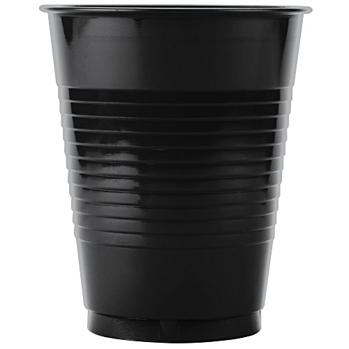 TableTop King P16ERL-00004 16 oz. Black Plastic Cup - 1000/Case