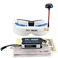 2018 Newest Version! Fat Shark FSV1063-03 Dominator V3 Headset FPV Video Goggles with FSV2442 Reciever And Antenna