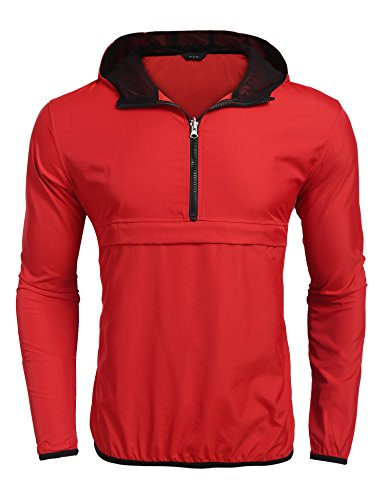eight Packable Hooded Running Cycling Rain Jacket Outdoor Raincoat Waterproof ()