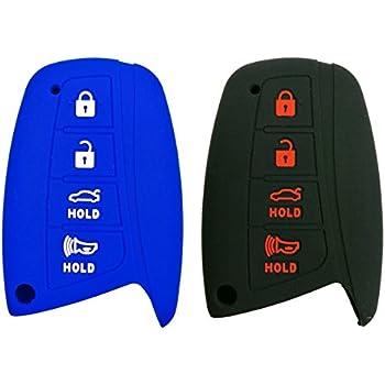 RPKEY Leather Keyless Entry Remote Control Key Fob Cover Case protector For 2015 2016 Hyundai Genesis 2013 2014 2015 Santa Fe 2014 2015 Equus 2015 Azera SY5DMFNA04 95440-4Z200