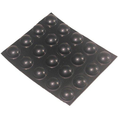 20 Large Black Round Bumps