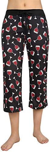 HDE Womens Sleepwear Capri Pajama Pants Sleep Capris Cropped Lounge Bottoms S-3X