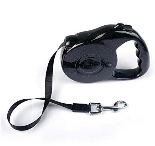 Coastal Cat Eye Glasses - Dog Leash Extending Puppy Walking Leads 3M 5M Retractable (3M 11KG, Black)
