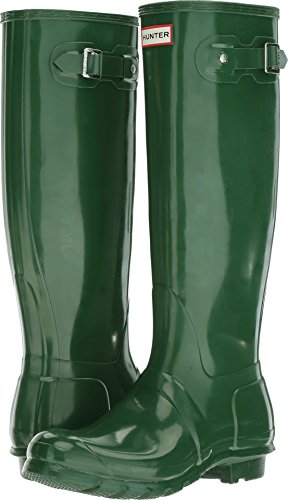 Hunter Women's Original Tall Gloss Hunter Green Shoe ()