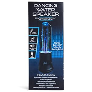 Rooes dancing water plug-in speaker with built-in water & lights (White)