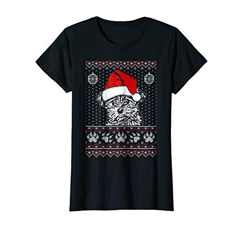 Womens Morkie Christmas T-Shirt Noel Gift XL Black