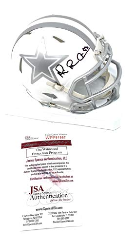 Michael Irvin Dallas Cowboys Signed Autograph ICE Speed Mini Helmet JSA Witnessed Certified