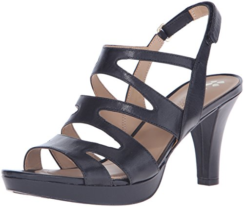 Naturalizer Women's Pressley Platform Dress Sandal, Black, 7 M US