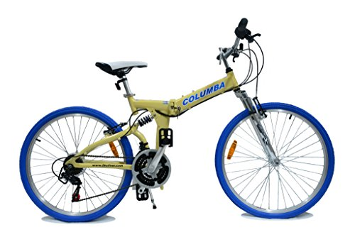 Columba 26 Inch Alloy Folding Bike w. Shimano 18 Speed Cream (RJ26A_CRM)