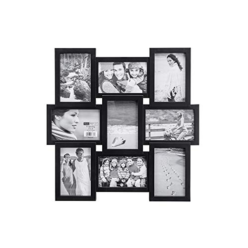 (Malden 4x6 9-Opening Collage Picture Frame - Displays Nine 4x6 Pictures - Black)