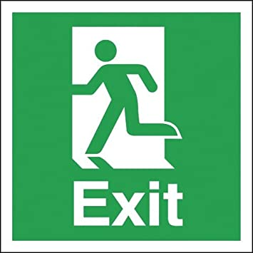 150 X 150 Mm Exit Running Man Symbol Stickers Labels Safety